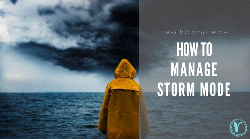 How to manage storm mode - dealing with money during crisis